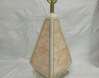 Vintage Modern Tessellated Marble Lamp