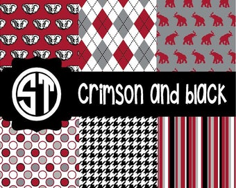 Crimson and Black Spirit Patterns  (Indoor, Outdoor,  Glitter vinyl , HTV iron on, Glitter HTV) Lamination available Mask not included