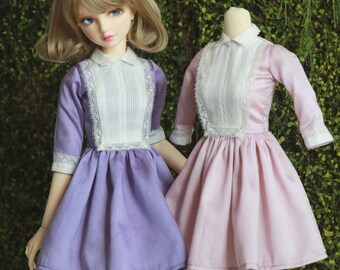SDGr/SD16/DD/Unoa Zero Mary-Kate Vintage dress with lace trimmed bib . Purple or Lilac