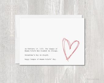 Anti Valentine's Day Greeting Card | Blank Inside