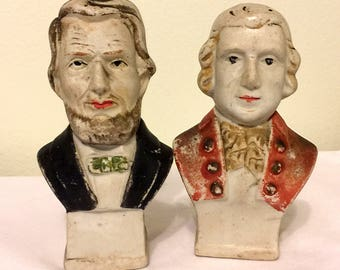 Vintage Presidents Salt and Pepper Shakers - Made in Japan