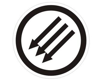 Classic ANTIFA Symbol No Nazi's Anti Nazi Anti Fascism Vinyl Car Truck Bumper Sticker Decal