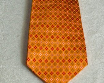 Vintage Ermenegildo Zegna Orange Silk Tie