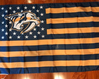 Nashville Predators Stars Stripes 3 X 5 Feet Flag Banner NHL Hockey Fan Decor