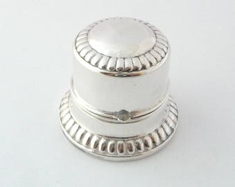 Birks Sterling Silver Ring Box Double Ring Holder Wedding Ring Engagement Ring Box Holder Two Ring Box from Treasures of Grace