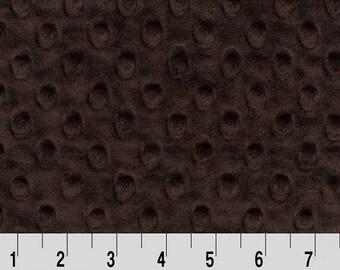 Minky (Chocolate Brown) - Minky Dots - Cuddle Dimple - Shannon Fabrics - 1 Yard