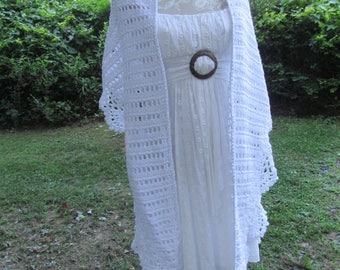 Hand Crocheted Wedding - Evening Shawl (NEW) just completed   *FREE SHIPPING*