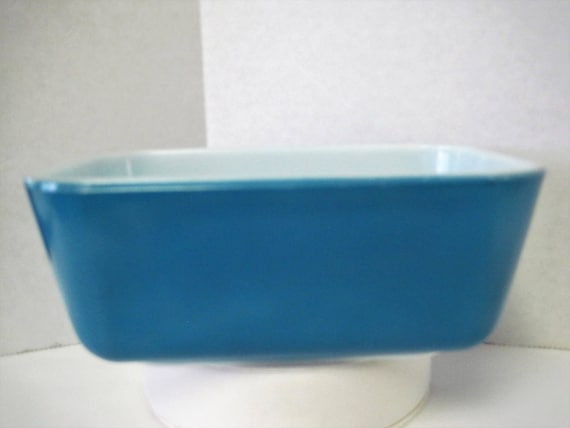 Pyrex Dish  -  502 - B Made in USA - Blue in Color - Casserole Dish - Rectangular Meat Loaf