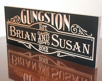 Wedding Date Sign, Custom Wedding Sign, 5yr Anniversary Gift, Parents Anniversary Gift, Benchmark Signs, Maple SB