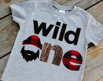 Wild One Lumberjack First Birthday Shirt, First Birthday Shirt, Lumberjack Birthday, Buffalo Check Shirt, One Shirt, Wilderness Man, Logger