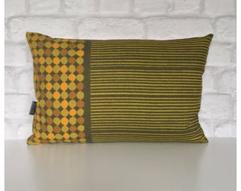 """Bolster Cushion Cover Vintage 70s Heals Fabric Abacus Peter Hall 12"""" x 18"""" Mid Century"""