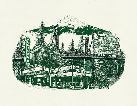 Portlandmark Art Print - 8.5x11, 11x14 & 16x20 Poster