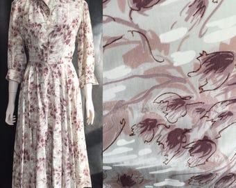 Early 1950s rayon dress in eau de nil