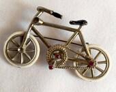Vintage Mid-century Bicycle Brooch