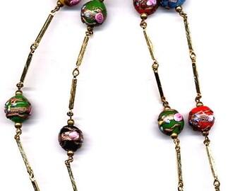 15% OFF SALE Necklace Vintage Multi Color Venitian Bead    Item No: 14306