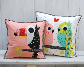 Tweets applique cushion pattern - instant download