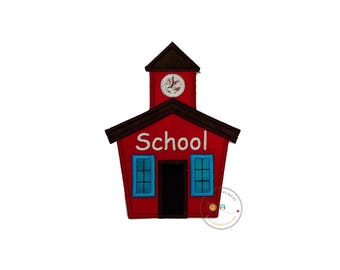 Iron on school house applique