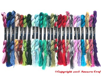 Variegated Embroidery Floss Rainbow - 1 each of 24 colors - ThreadworX Collection 2