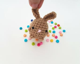 Crochet Mini Bunny, Crochet Bunny Amigurumi, Easter Bunny, Plush Bunny, Farm Animal Plush Toy, Crochet Bunny Keychain, Kawaii Bunny
