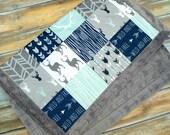 Minky Baby Blanket - Boy Baby Blanket - Baby Blanket - Deer Baby Blanket - Baby Boy Gift - Minky Blanket - Designer Minky - Baby Quilt - Boy