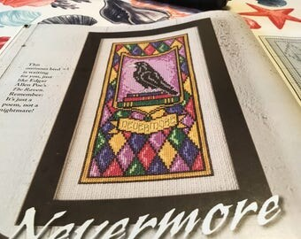 HALLOWEEN RAVEN - Cross Stitch Pattern Only