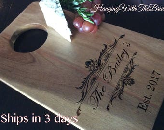 Personalized Cutting Board, Custom Cutting Board, Personalized Wedding Gift, Engraved Board, Housewarming Gift, Anniversary Gift, Engagement