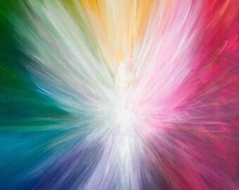 ANGELS FOR LIFE Art Print | Rainbow Angel of Light Wall Art | 8x10