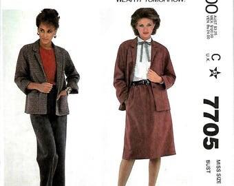 McCall's 7705 Make It Tonight Jacket, Skirt And Pants Pattern, 8, 10, 12 & 14, UNCUT