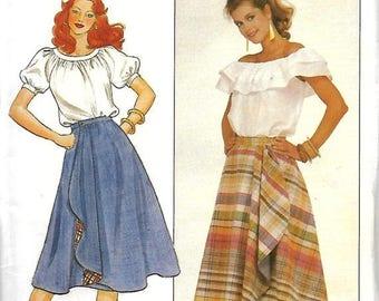 ON SALE Butterick 4404 Misses Reversible Wrap Skirt Pattern, Size 18-22, UNCUT