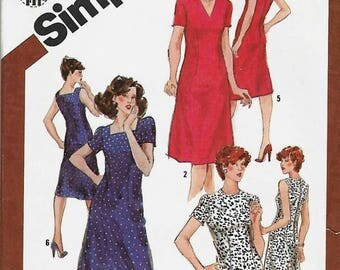 ON SALE Misses Slim-Fitting Sheath Dress Pattern, Simplicity 9899 , Size 16, UNCUT