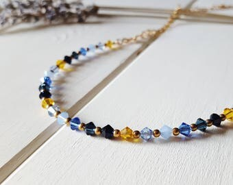 Mariel - Blue & Yellow Necklace, Ready to Ship
