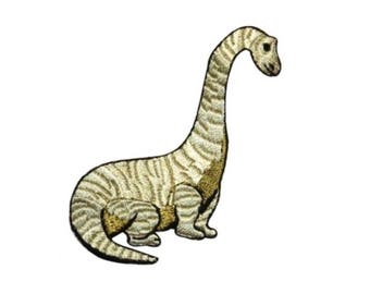 ID 0778B Long Neck Dinosaur Patch Brachiosaurus Embroidered Iron On Applique