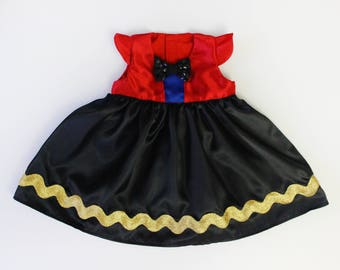 Ring Master Ringleader Circus Costume Dress for Baby Toddler Girl Handmade Unique - Ready to Ship