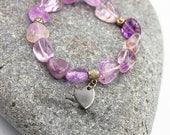 Unique amethyst bracelet....