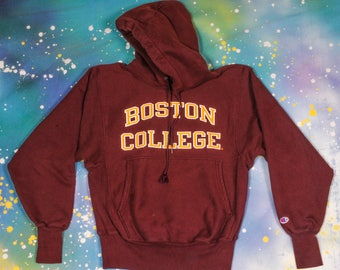 BOSTON CHAMPION Reverse Weave Hoodie SWEATSHIRT Size S