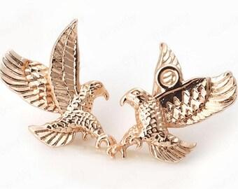 6pcs brass plated gold eagle  pendant