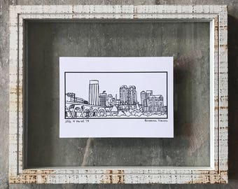 Richmond, Virginia Skyline - Elle Karel Illustration