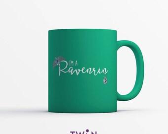 I'm A RAVENRIN MUG - Harry Potter Mug - Ravenclaw and Slytherin Mix Gift