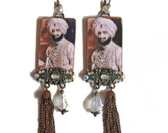 Designer earrings MAHARAJA magical RAJASTHAN India