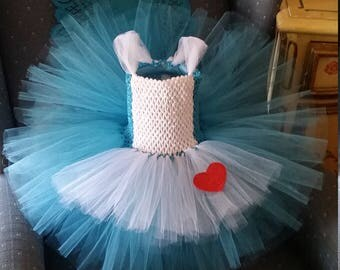 Birthday Alice in Wonderland Costume Flower Girl Tutu Dress outfit