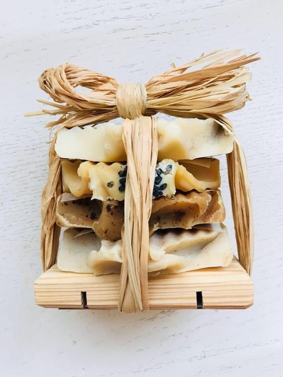 Soap Sampler Gift Set -  Scented Soap Sampler Variety Stack of Handmade Soap - travel soap - teacher gift - Mother's Day - homemade soap