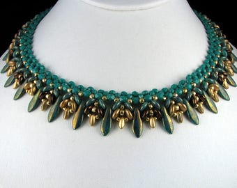Czech Glass Dagger Bead Necklace