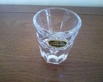 Vintage Shot Glass - Shot Glass - Cambridge Shot Glass - Hand Made Shot Glass - Clear Shot Glass