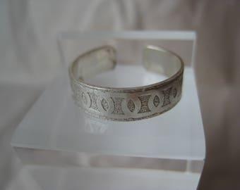 Design Sterling Toe Ring Vintage Silver Adjustable 925