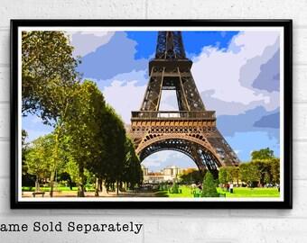 Eiffel Tower 5 - Paris Landmark Pop Art Print and Poster France Monument Landmark Europe Travel Home Decor Canvas