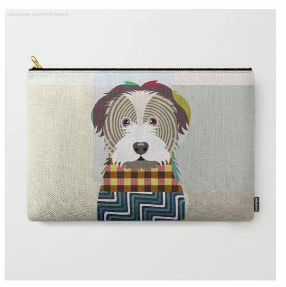 Havanese Pouch, Havanese Wallet, Havanese Purse,  Havanese Gifts, Dog Wallet, Pet Pouch, Dog Pouch, Zipper Purse,  Dog Zipper Pouch