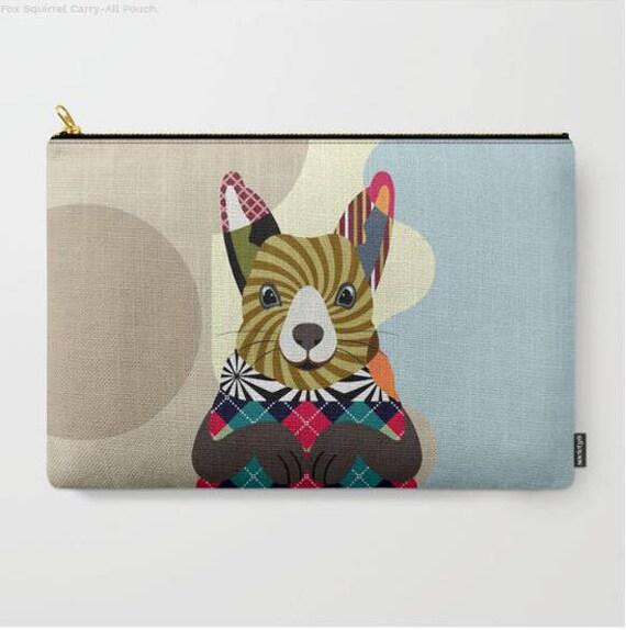 Squirrel Coin Purse, Squirrel Pouch, Squirrel Wallet, Squirrel Gifts, Squirrel Zipper Pouch, Squirrel  Lovers Gift,  Squirrel Purse