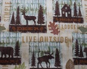Cabin Fabric, Mountain Lodge Fabric, Simple Living, 100% Quilting Cotton by David Textiles