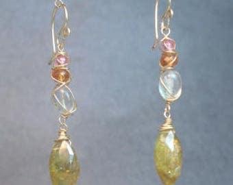 Branch Gemstone Drop Earrings Guenevere 109