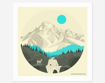 MT RAINIER NATIONAL Park (Giclée Fine Art Print/Photo Print/Poster Print) by Jazzberry Blue
